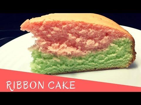 Ribbon Cake/ Moist multi colored cake