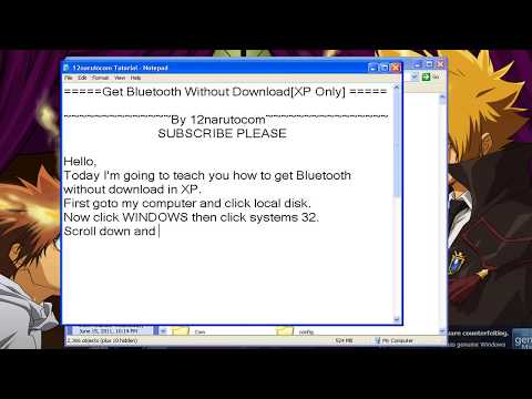Get Bluetooth Without Download (XP Only) [HD]