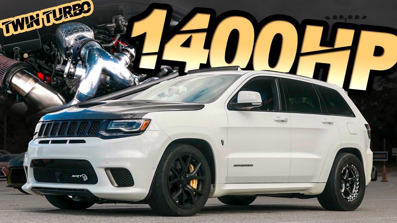 """1400HP Jeep Trackhawk - The World's FIRST TWIN TURBO TRACKHAWK! (""""Big Hawk"""" Breaks the MPH Record)"""