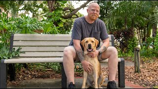 Barry and Service Dog Case