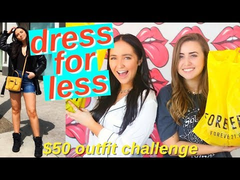 $50 outfit challenge   how to dress trendy for cheap ft morgan yates