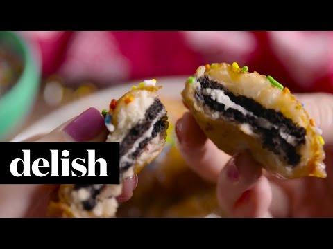 How To Make Funfetti Fried Oreos   Delish