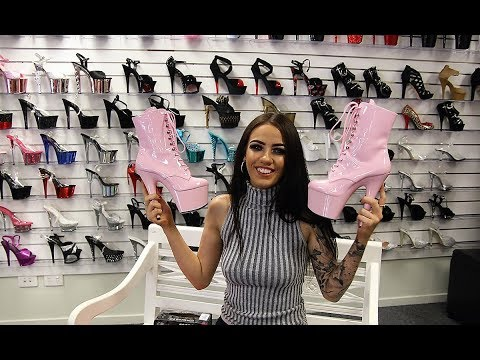 Xxx Mp4 Unboxing Try On Pleaser Adore 1020 Pink Ankle Boots 7 Inch High Heel 3gp Sex