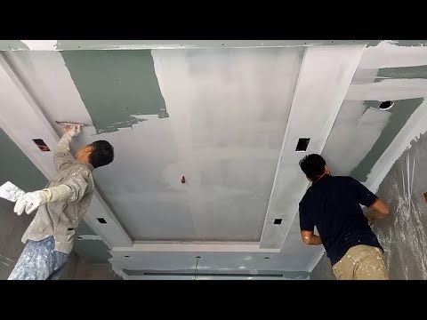How to Rendering Plaster Ceiling With a Mixture Smoothing Powder For Exterior Interior