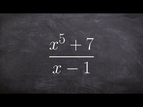 Applying synthetic division to a polynomial with missing terms