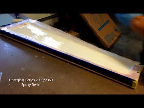 Fiberglass Rotor Blade Layup time-lapse