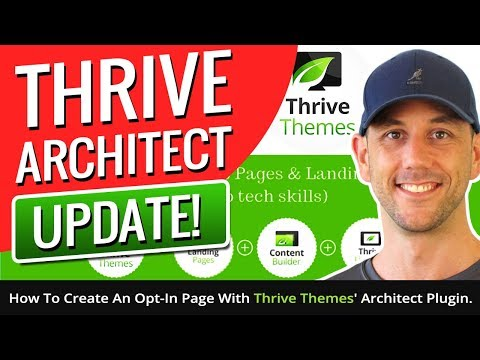 Thrive Architect Update! How To Create An Opt-In Page With Thrive Themes' Architect Plugin.