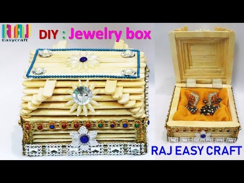 DIY # how to make jewellery box # at home |  ice cream stick craft
