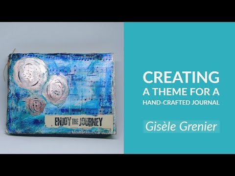 The Blues Hand Crafted Art Journal Cover - Creating a Theme for a Mixed Media Journal