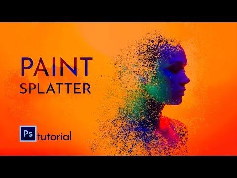 Photoshop Tutorial - Paint Splatter Effect