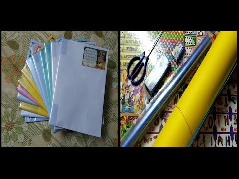 HOW TO COVER  NOTEBOOK WITH CHART PAPER AND PLASTIC ll Book cover design