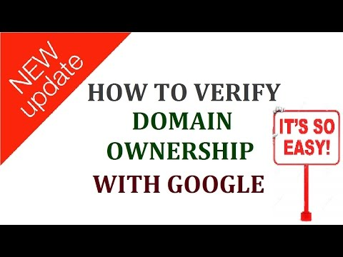 how to verify domain ownership with google