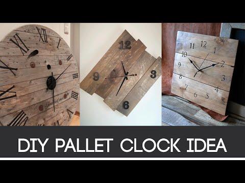 Diy Pallet Clock Idea