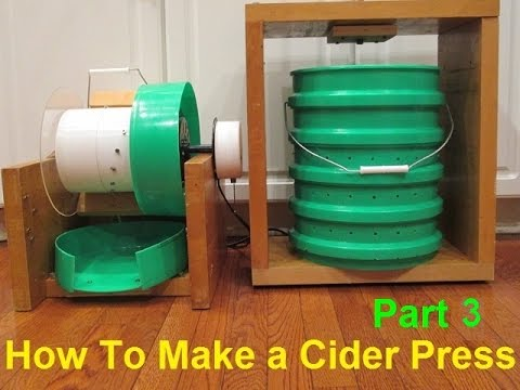 How To Make a Cider Press - Part 3