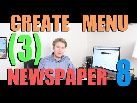 Newspaper 8 Theme Tutorial 2018 (Part 3) - How to Create Menu in Wordpress Admin 2018