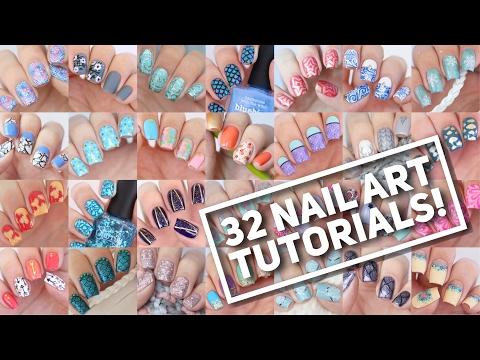 32 NAIL ART TUTORIALS!   Nail Art Design Compilation #2