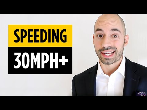 Florida Speeding Tickets 101 - Going 30mph or Over