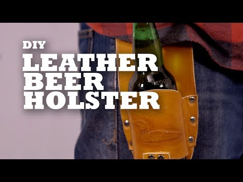 DIY Leather Beer Holster