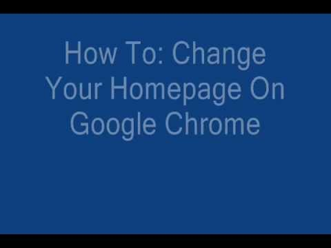 How To: Change Your Google Chrome Homepage