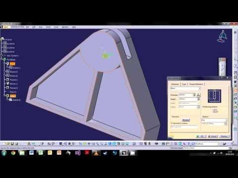 CATIA V5: The Basics - Tutorial 3: 3D Modelling Part 1
