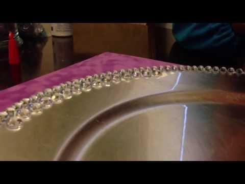 DIY: Create bling rhinestone charger