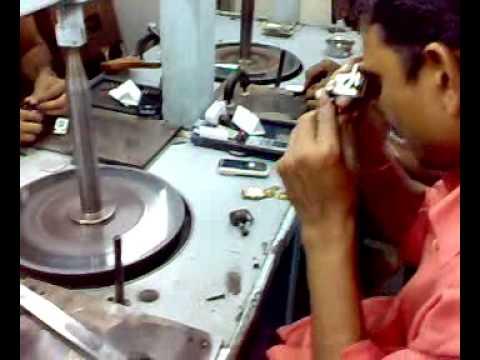 diamond cutting unit and process