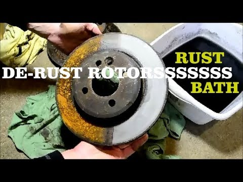 Metal Rescue De-Rusting Brake Rotors | How to Remove Rust Easily