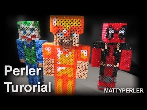 3D minecraft tutorial -  perler beads