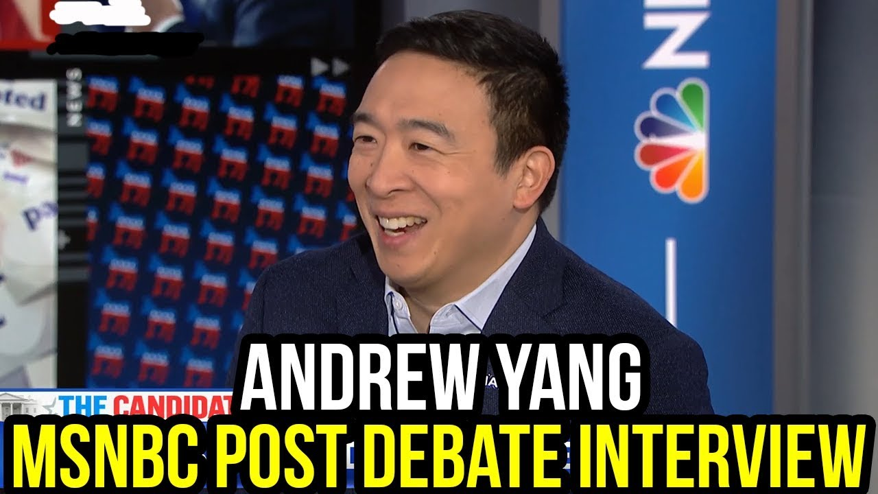 Andrew Yang Reacts to the 7th Democratic Debate | Full MSNBC Interview January 15th 2019