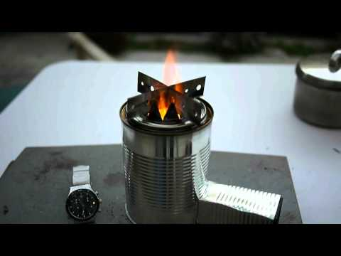 Woodgas Camping Stove TLUD Fan No Smoke No Black Pot