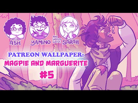 Wallpaper: Magpie and Marguerite (Part 5: Coloring)