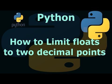 Python Limiting floats to two decimal points
