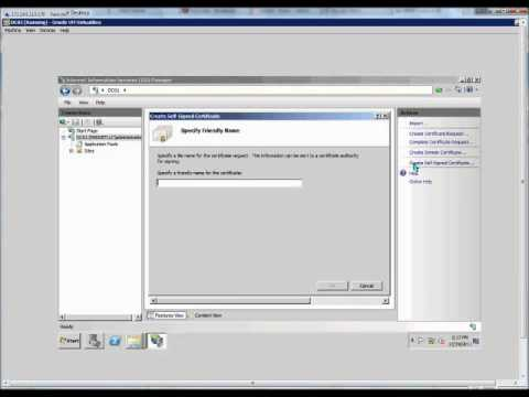 How to create a self signed certificate on a Windows 2008 R2 server