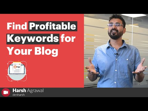 How To Quickly Find Profitable Keywords for Your Blog