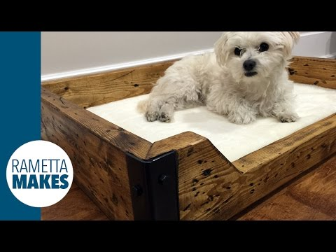 How to Build a Custom Dog Bed // DIY