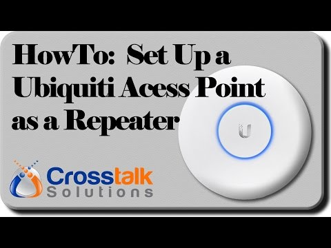 HowTo: Set up a Ubiquiti Access Point as a Repeater