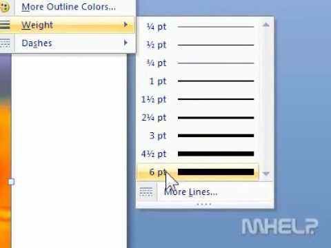 How to change the border of a picture in Word