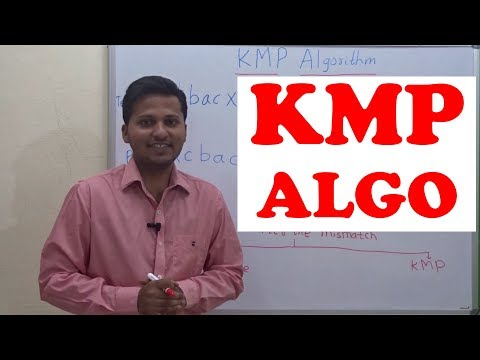 KMP string matching  algorithm (string/pattern search in a text)