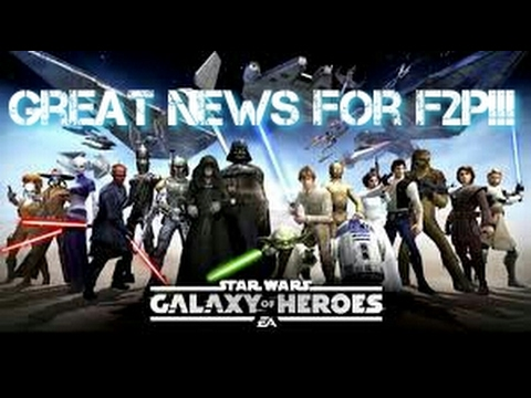 Great News for F2P!!!  GW and More!!  Star Wars Galaxy of Heroes
