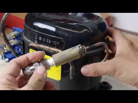 435 psi (30 bar) Compressor from a Refrigerator Motor