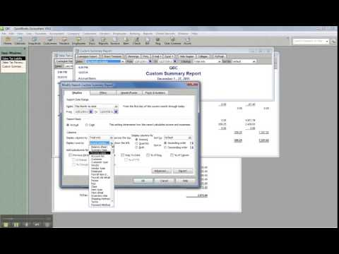 How to create a Gross Revenue report for sales tax liability in QuickBooks Desktop