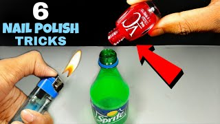 6 Amazing Nail Polish Tricks || Easy Science Experiments With Nail Polish