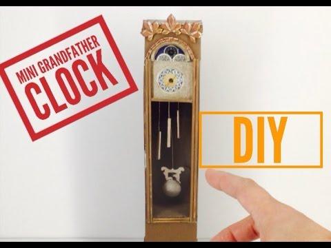 DIY-How to make: Dollhouse Grandfather Clock ||  Miniature Dollhouse Crafts