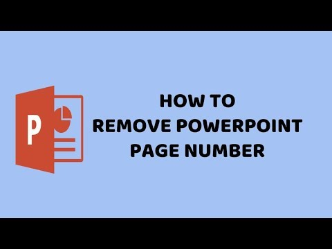 How to Remove PowerPoint Page Number | PowerPoint 2016 Easy Tutorials in Hindi