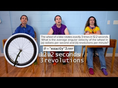 Introductory Angular Velocity Problem - A Turning Bike Tire