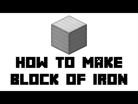 Minecraft Survival: How to Make Block of Iron