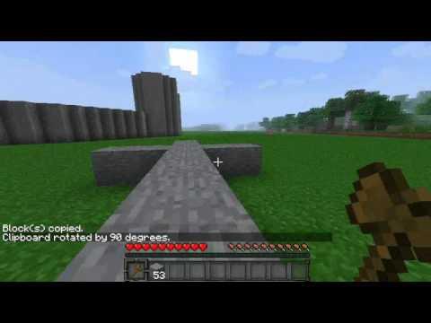 Minecraft - World Edit : Rotation + Flipping Objects