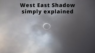 West to East shadow explained in real simple to easy understand terms