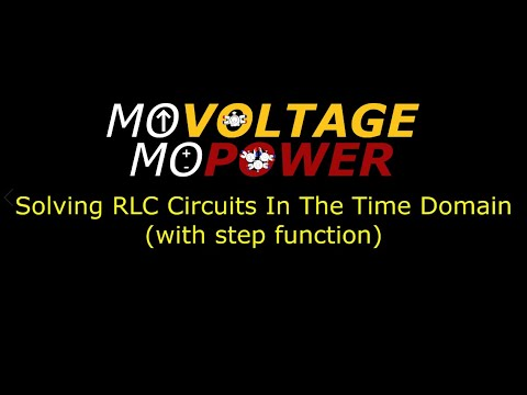 Solving RLC Circuit in the Time Domain with Step Function (under damped condition of an RLC Circuit)
