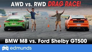 Drag Race! BMW M8 vs. Ford Shelby GT500 — Sport Coupe Drag Race — 0-60 Performance, Specs & More